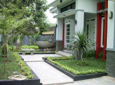 jasa pembuatan desain taman minimalis depan rumah
